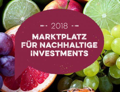 """""""Wandel durch nachhaltiges Investieren"""" – 5. Marktplatz für Nachhaltige Investment"""